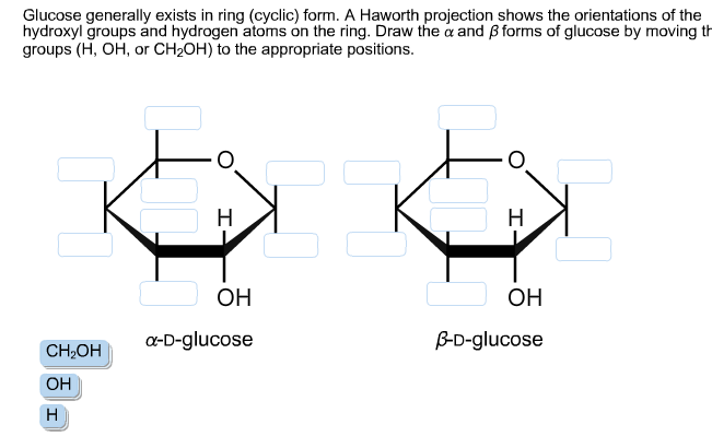 Glucose Generally Exists In Ring (cyclic) Form. A ... | Chegg.com