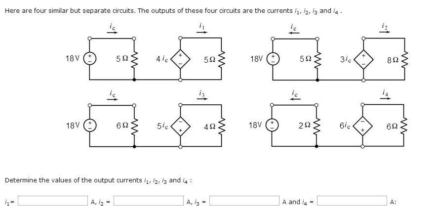 Here are four similar but separate circuits. The o