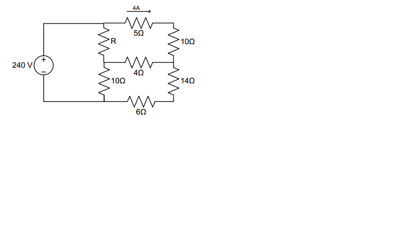 Find R and the power supplied by the source