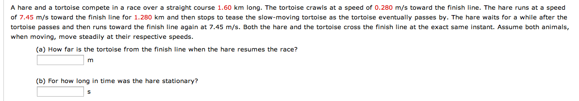 A hare and a tortoise compete in a race over a str