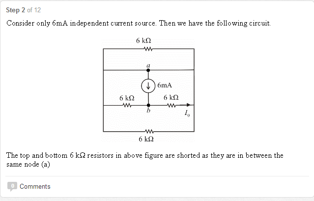 Consider only 6mA independent current source. Then