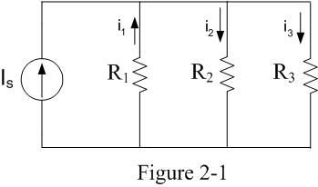Let Is=24A, R1=2?, R2=2? and R3=5? in the circuit