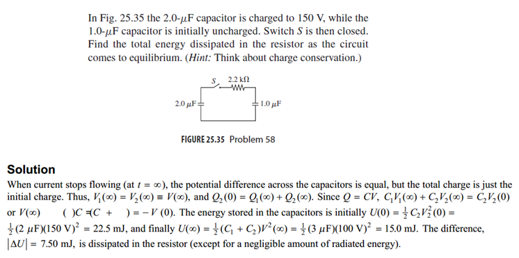 In Fig. 25.35 the 2.0- mu F capacitor is charged t