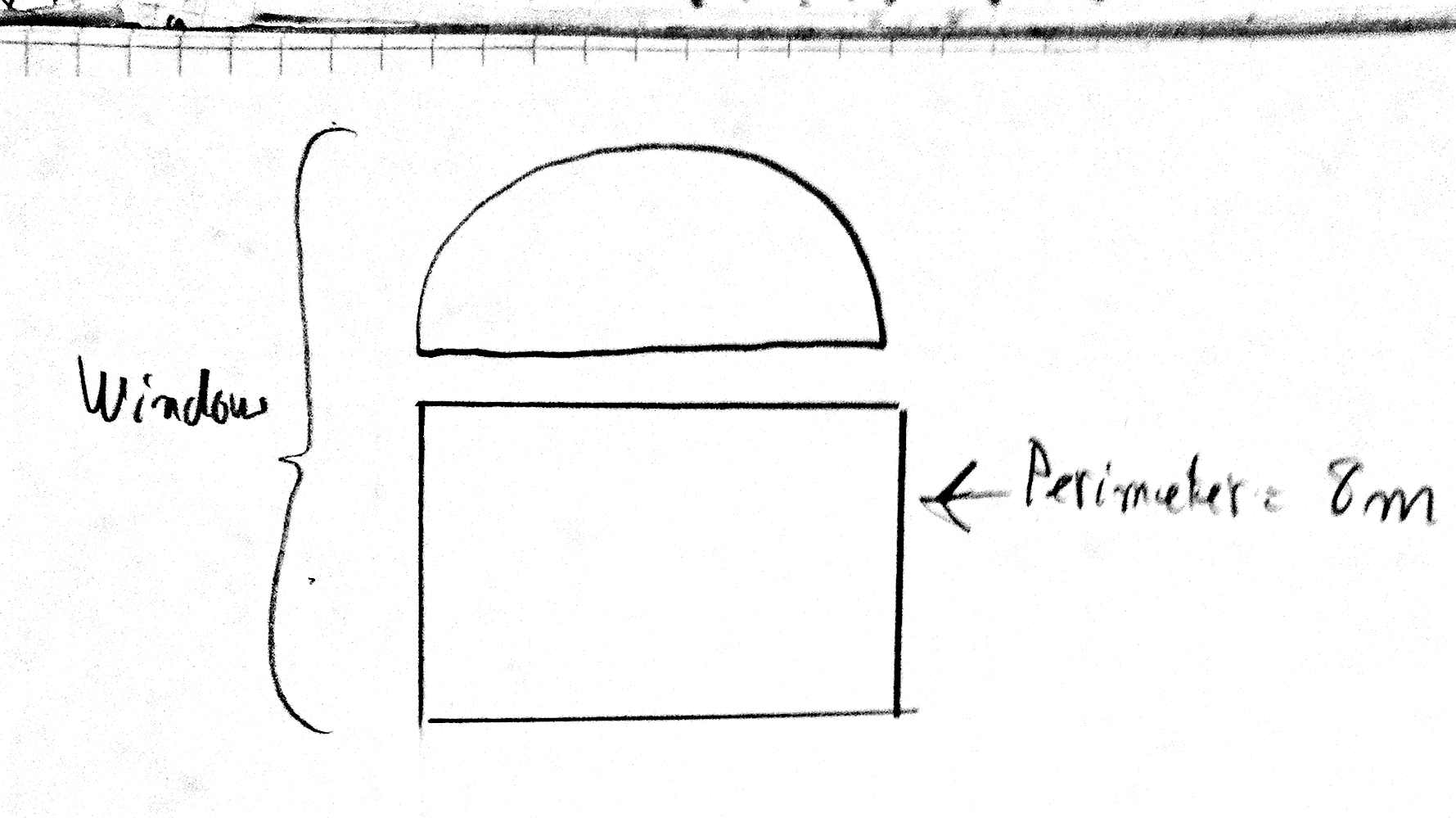 how to get the perimeter of a semicircle