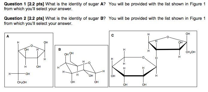 What is the identity of sugar A? You will be provi