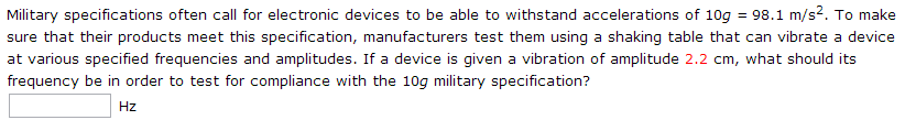 Military specifications often call for electronic
