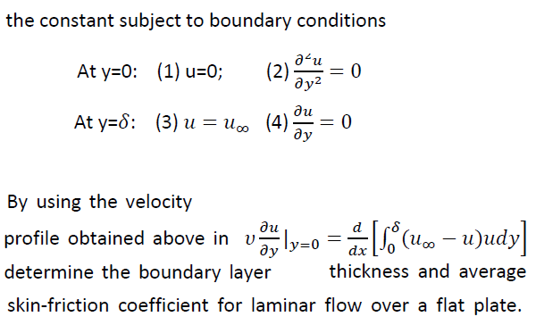 The constant subject to boundary conditions By us
