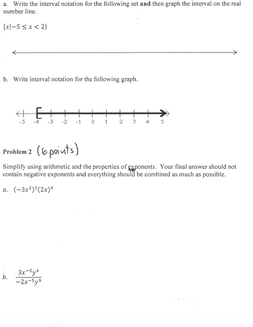 Drawing Using Inequality Number Lines : Use notations to specify domain and range precalculus i