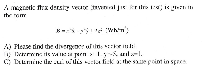A magnetic flux density vector (invented just for