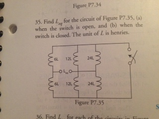 Find L eq for the circuit of Figure p7.35 ,(a) wh