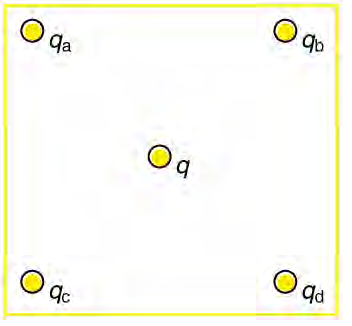 Find the electric field at the location of qa in t