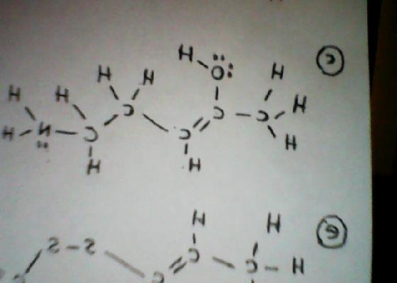 CONVERT THE LEWIS STRUCTURE BELOW TO ITS SIMPLE LI