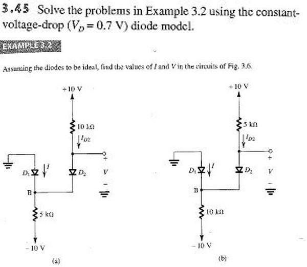 Solve the problems in Example 3.2 using the consta