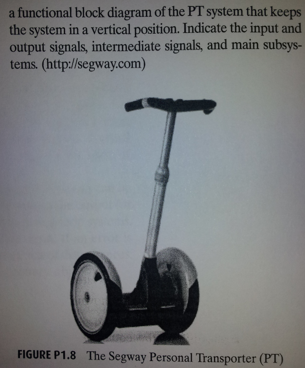 A Segway 6 Personal Transporter (FT) (Figure P1.8