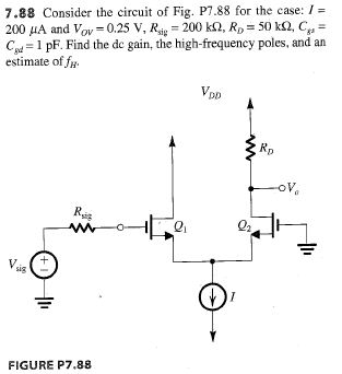 Consider the circuit of Fig. P7.88 for the case: I
