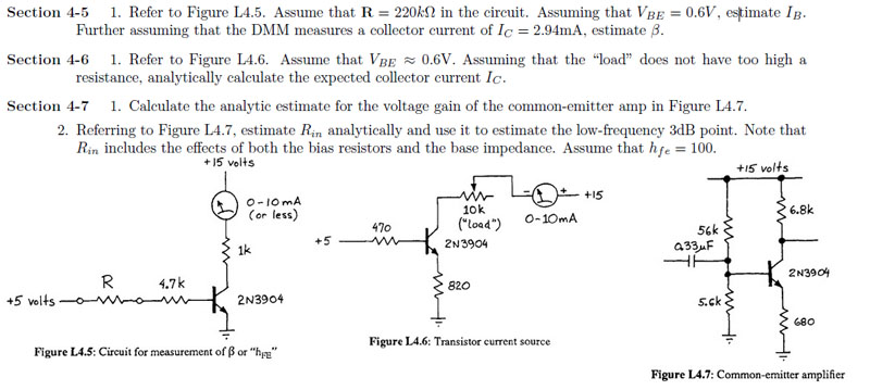 Refer to Figure L4.5. Assume that R = 220 k ohm in