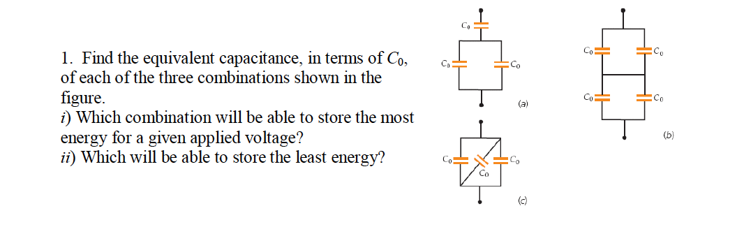 Find the equivalent capacitance, in terms of C0, o