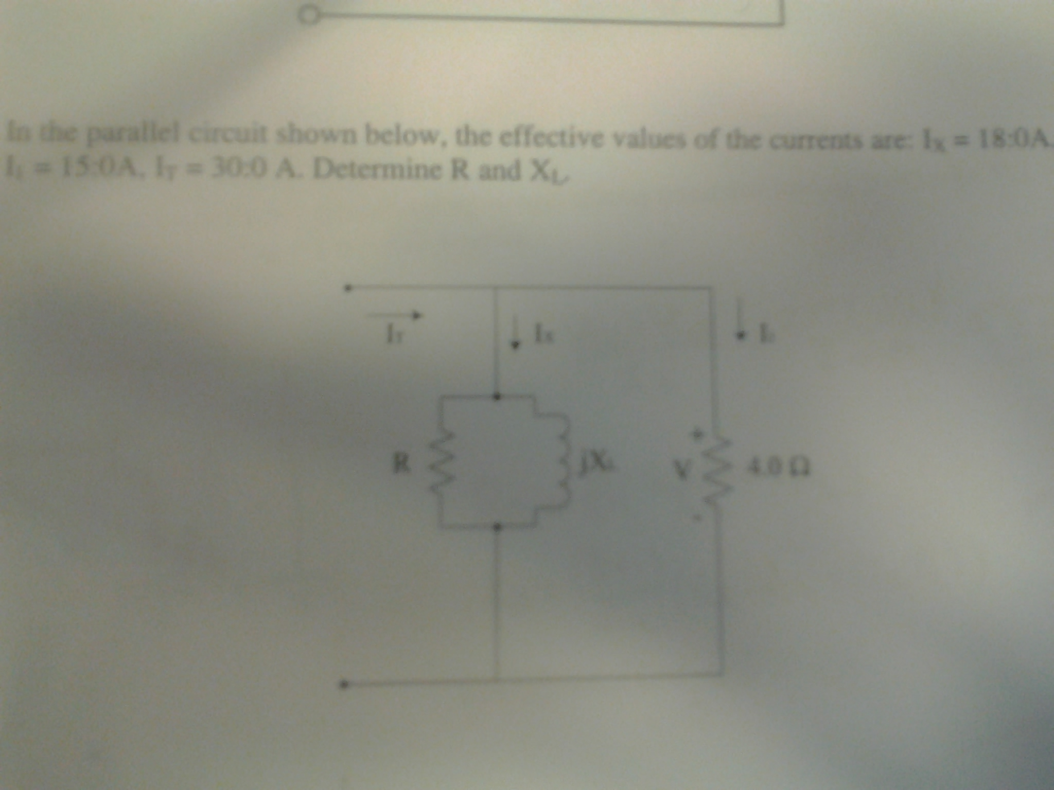In the parallel circuit shown below, the effective