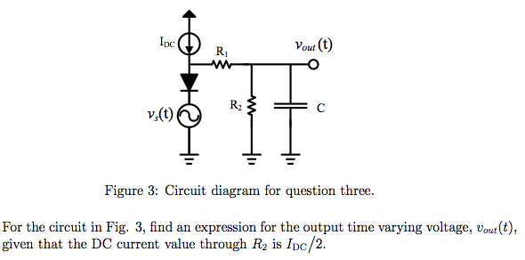 For the circuit in Fig. 3, find an expression for