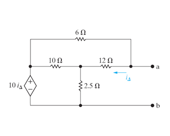Find the Thevenin equivalent voltage and resistanc