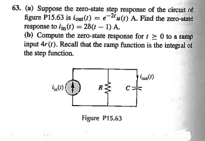 Suppose the zero-state step response of the circui