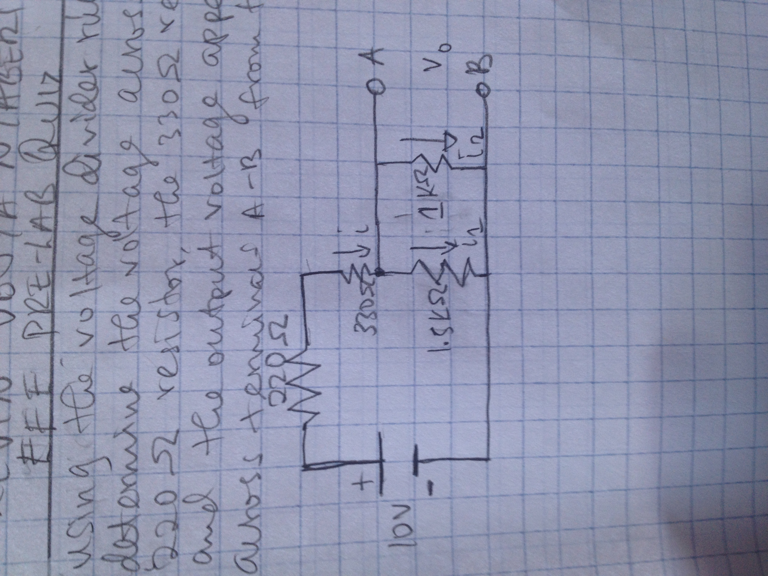 A. Using the voltage divider rule, determine the v