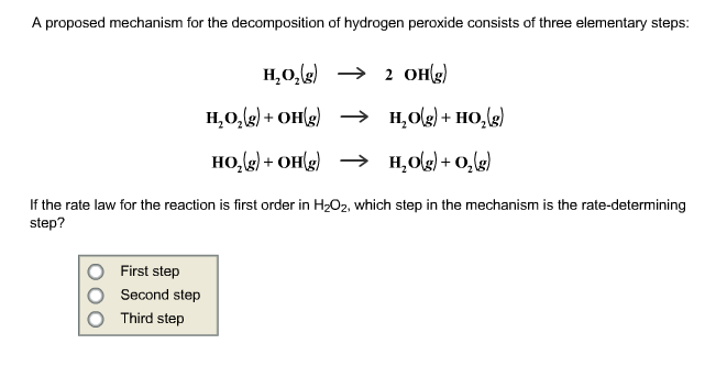 A proposed mechanism for the decomposition of hydr