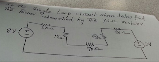 In the single loop circuit shown below find the po