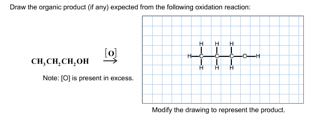 Draw the organic product (if any) expected from th