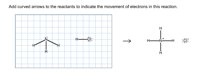 Add curved arrows to the reactants to indicate the