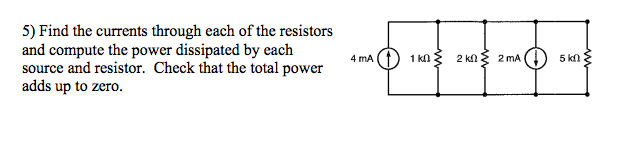 Find the currents through each of the resistors an