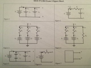 In figure 2, E = +10 V, R = 10 Ohms and C = 2 F. H