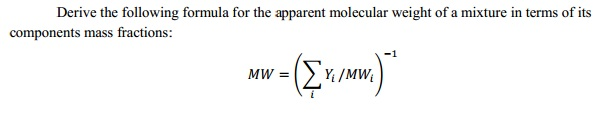 Derive the following formula for the apparent mole
