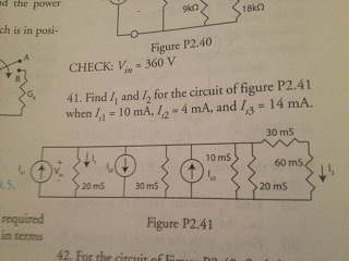 CHECK: Vin = 360 V Find I1 and I2 for the circuit