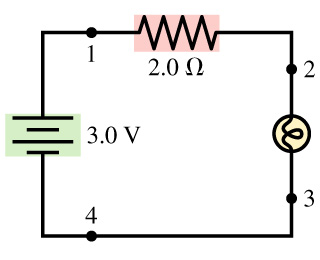Great Question: The Lightbulb In The Circuit Diagram Of The Figure Has A  Resistance Of 1.0 Ohms. Let Delta V (ab). Good Ideas