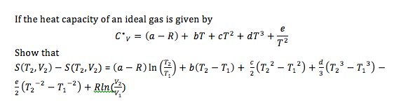 If the heat capacity of an ideal gas is given by
