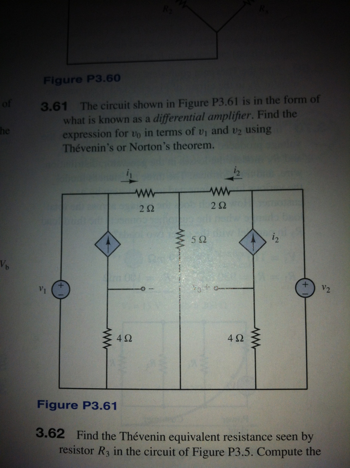 The circuit shown in Figure P3.61 is in the form o