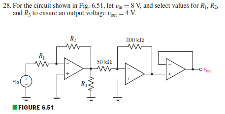 For the circuit shown in Fig. 6.51, let vin = 8 V,