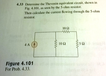 Determine the Thevenin equivalent circuit, shown i