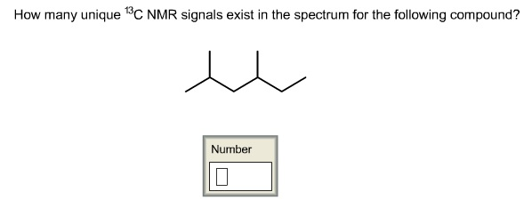 How many unique 13C NMR signals exist in the spect