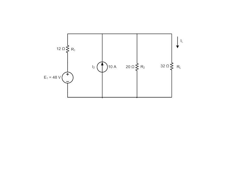 Reduce the network of Figure 4 to a single current