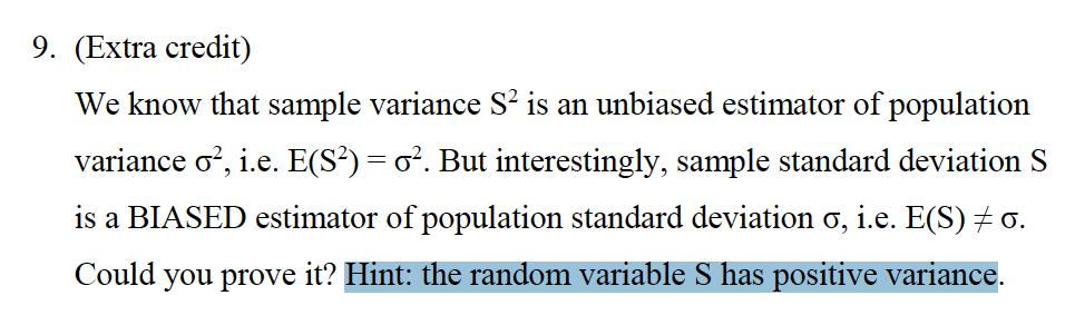 solved we know that sample variance s2 is an unbiased est. Black Bedroom Furniture Sets. Home Design Ideas