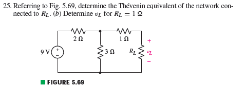 Referring to Fig. 5.69, determine the Thevenin equ