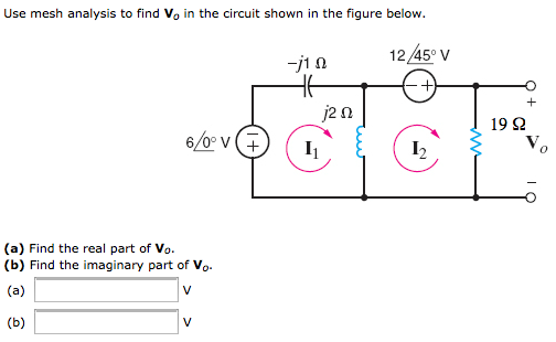 Use mesh analysis to find V0 in the circuit shown