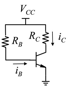 Given the following circuit, in which RC = 3 kW, ?