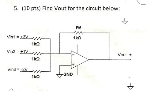 Find Vout for the circuit below: