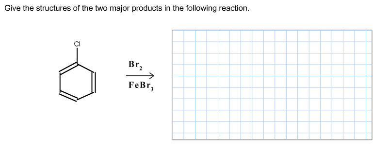 Give the structures of the two major products in t