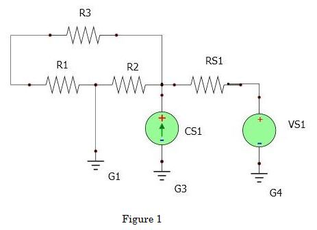 Given the circuit below (Figure 1) considering RS1
