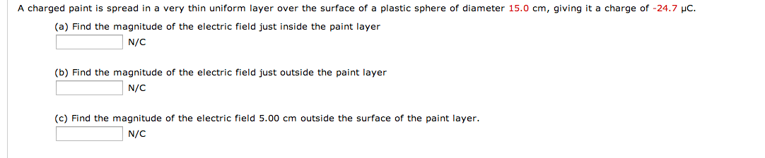 A charged paint is spread in a very thin uniform l