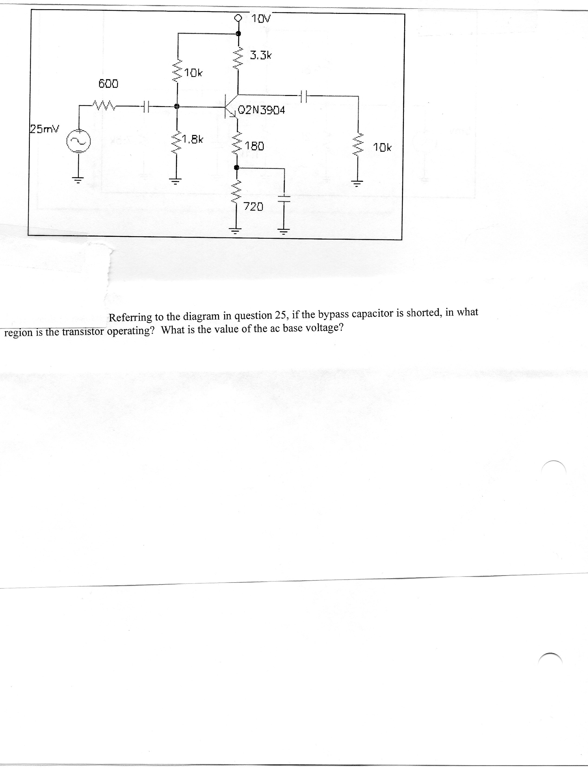 Referring to the diagram in question 25, if the by